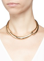Three part cut out collar necklace
