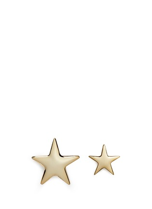 Main View - Click To Enlarge - Kenneth Jay Lane - Contrast size star earrings