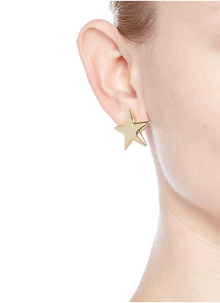 Figure View - Click To Enlarge - Kenneth Jay Lane - Contrast size star earrings