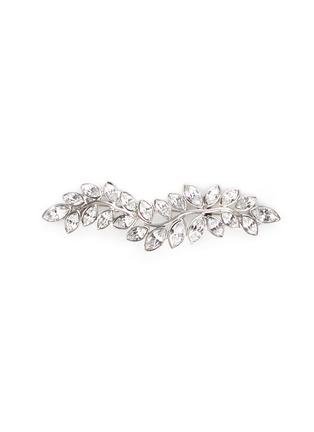 Kenneth Jay Lane-Glass crystal leaf brooch