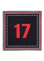 '17' silk twill scarf