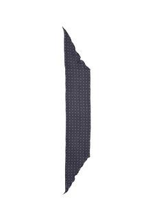 GivenchyMicroprint silk chiffon trapezoid scarf