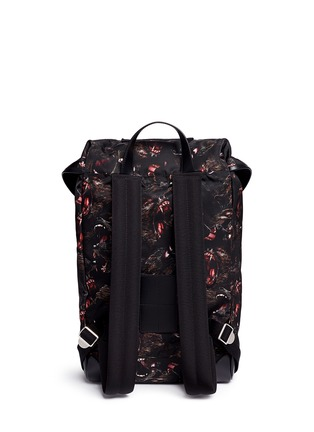 Back View - Click To Enlarge - Givenchy - 'Rider' monkey brothers print nylon backpack