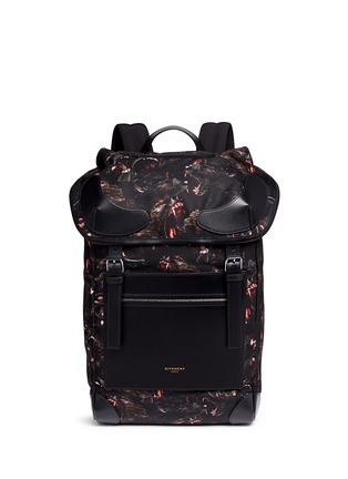 Main View - Click To Enlarge - Givenchy - 'Rider' monkey brothers print nylon backpack