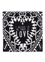 'Power of Love' virgin wool-silk scarf
