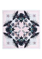 'Ultra Paradise' floral silk twill scarf