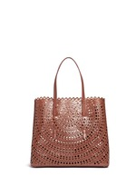 'New Vienne' large lasercut leather tote