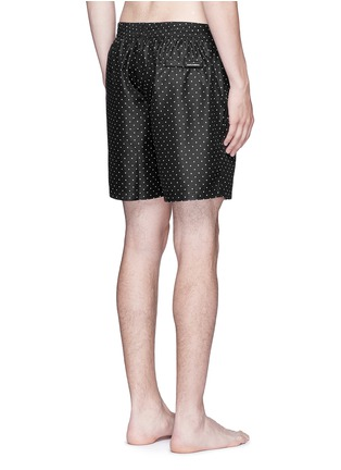 Back View - Click To Enlarge - Dolce & Gabbana - Polka dot print swim shorts
