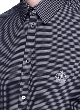 Detail View - Click To Enlarge - Dolce & Gabbana - 'Gold' slim fit diamond jacquard cotton shirt