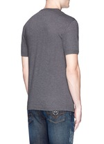 Slim fit patch embellished cotton T-shirt