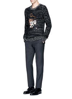 Dolce & GabbanaDG FAMILY patch wool sweater
