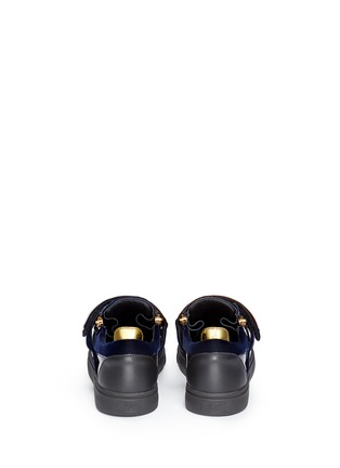 Back View - Click To Enlarge - Giuseppe Zanotti Design - 'London' velvet low top sneakers
