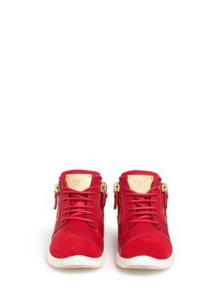 Giuseppe Zanotti Design - 'Runner' suede trim leather zip sneakers