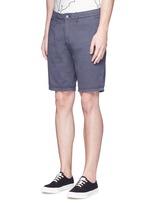 Garment dyed cotton shorts
