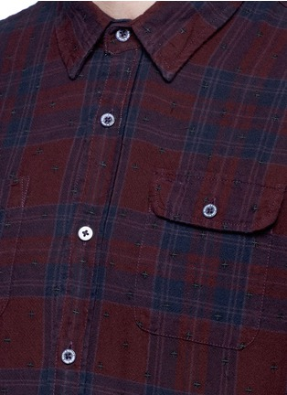 Detail View - Click To Enlarge - Scotch & Soda - Embroidered check plaid cotton shirt