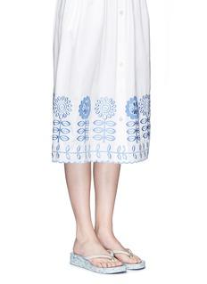 TORY BURCH'Thandie' floral print wedge flip flops