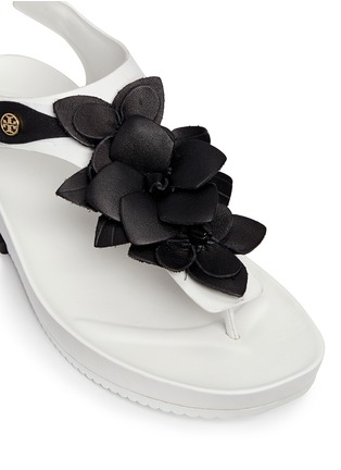 Detail View - Click To Enlarge - Tory Burch - 'Blossom' floral appliqué leather thong sandals