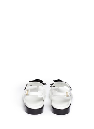 Back View - Click To Enlarge - Tory Burch - 'Blossom' floral appliqué leather thong sandals