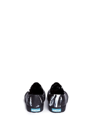 Back View - Click To Enlarge - Native - 'Miller' marble effect kids slip-ons