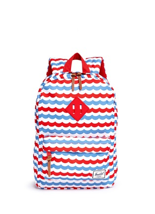 Main View - Click To Enlarge - Herschel Kids - 'Heritage' mariner stripe kids backpack