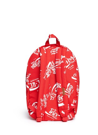 Back View - Click To Enlarge - The Herschel Supply Co. Brand - 'Lawson' Coca-Cola® print backpack