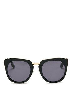 Stephane + Christian 'Bunker' wire rim angular round acetate sunglasses
