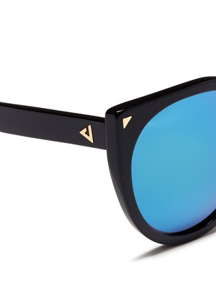 Detail View - Click To Enlarge - Stephane + Christian - 'Monroe' oversize cat eye acetate mirror sunglasses
