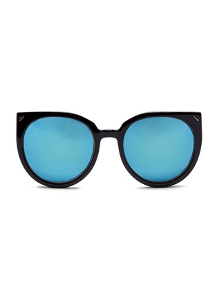 Main View - Click To Enlarge - Stephane + Christian - 'Monroe' oversize cat eye acetate mirror sunglasses