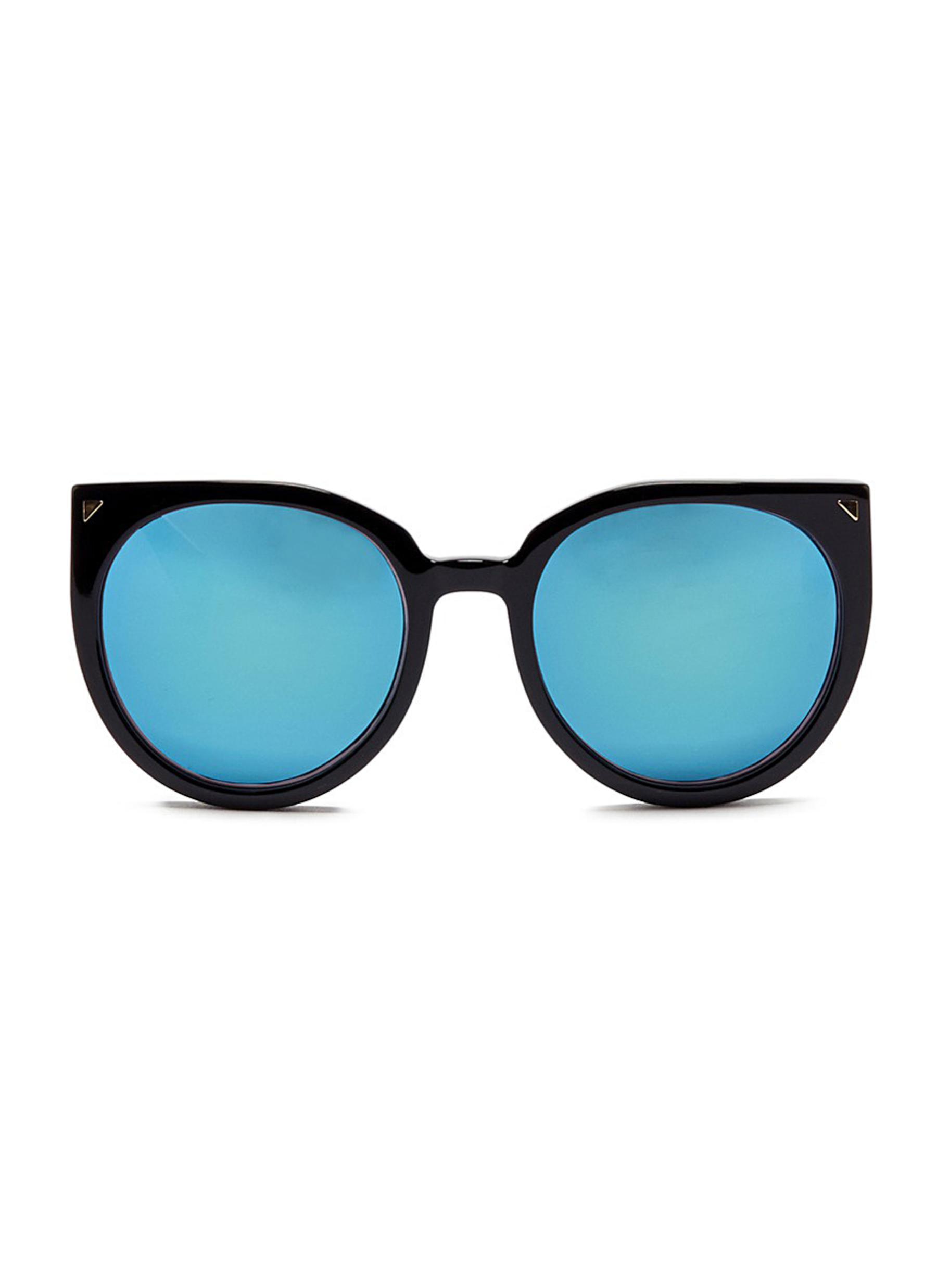 stephane christian female monroe oversize cat eye acetate mirror sunglasses