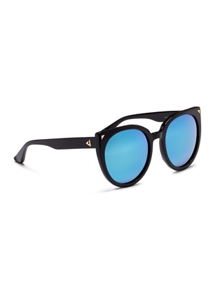 Figure View - Click To Enlarge - Stephane + Christian - 'Monroe' oversize cat eye acetate mirror sunglasses