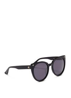 Stephane + Christian'Monroe' oversize cat eye acetate sunglasses