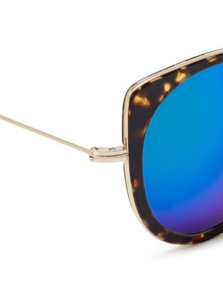 Detail View - Click To Enlarge - Stephane + Christian - 'Cindy' wire rim tortoiseshell acetate mirror sunglasses