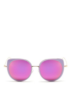 Stephane + Christian'Cindy' wire rim oversize acetate mirror sunglasses