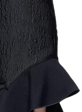 Detail View - Click To Enlarge - Proenza Schouler - Fil coupé cutout cold shoulder ruffle crepe dress