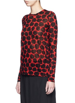 Front View - Click To Enlarge - Proenza Schouler - Dot print long sleeve cotton T-shirt