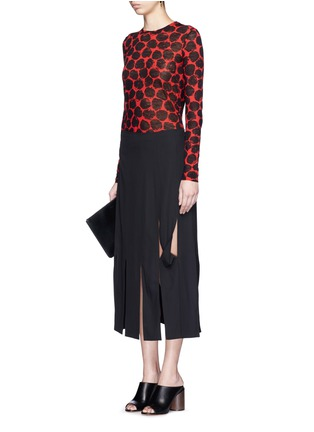 Figure View - Click To Enlarge - Proenza Schouler - Dot print long sleeve cotton T-shirt