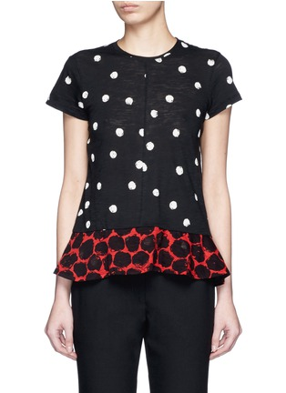 Main View - Click To Enlarge - Proenza Schouler - Dot print tissue jersey T-shirt