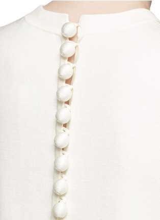 细节 - 点击放大 - PROENZA SCHOULER - 球形吊饰混丝针织短款上衣