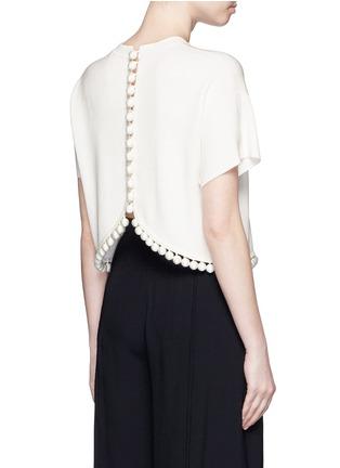 背面 - 点击放大 - PROENZA SCHOULER - 球形吊饰混丝针织短款上衣