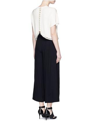 模特儿示范图 - 点击放大 - PROENZA SCHOULER - 球形吊饰混丝针织短款上衣