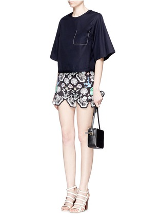 Figure View - Click To Enlarge - Emilio Pucci - Seashell print cutout cuff shorts