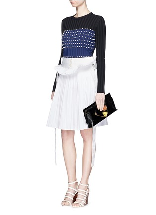 Figure View - Click To Enlarge - Emilio Pucci - Pearl embellished sweater