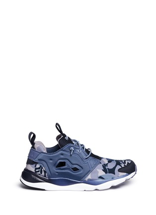 Main View - Click To Enlarge - Reebok - 'FuryLite Candy Girl' geometric print sneakers
