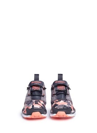 Front View - Click To Enlarge - Reebok - 'FuryLite Candy Girl' geometric print sneakers