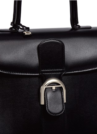 Detail View - Click To Enlarge - Delvaux - 'Brilliant MM' box calf leather bag