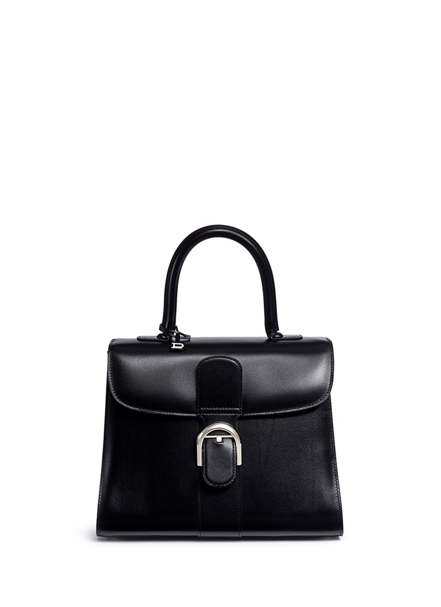 Brilliant MM box calf leather bag by Delvaux