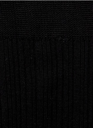 Detail View - Click To Enlarge - HANSEL FROM BASEL - Rib knit thigh high socks
