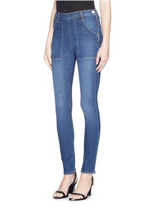 Front View - Click To Enlarge - Frame Denim - 'Le Skinny de Françoise' patchwork pocket skinny jeans