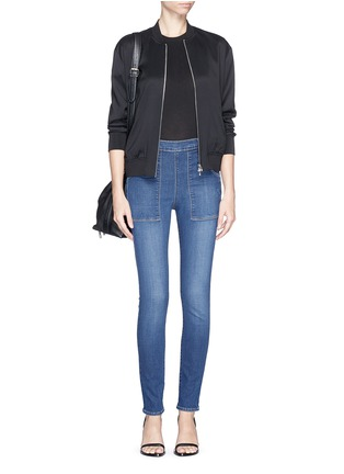 Figure View - Click To Enlarge - Frame Denim - 'Le Skinny de Françoise' patchwork pocket skinny jeans