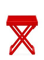 Foldable acrylic side table